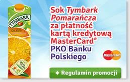 zapłać kartą MasterCard z PKO BP a otrzymasz 1L soku pomarańczowego Tymbark @ Żabka/Freshmarket