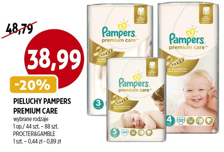 Pieluszki Pampers Premium Care za 38,99zł @ Piotr i Paweł