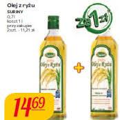 Kup jedną butelkę oleju ryżowego marki Suriny za 14,69zł, a za drugą zapłacisz 1zł @ Carrefour