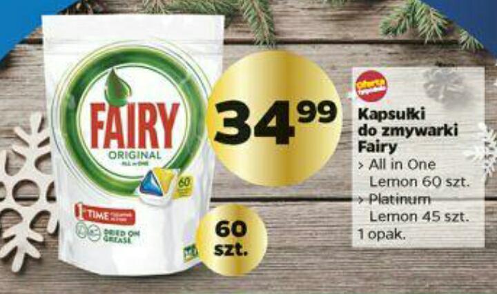 Netto- kapsułki do zmywarki Fairy 60 sztuk all in one