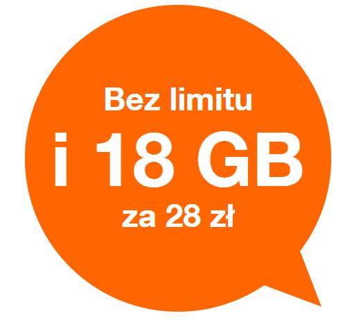 Orange Free na kartę, bez umowy.   28 zł/mc za smsy, rozmowy i internety @Orange