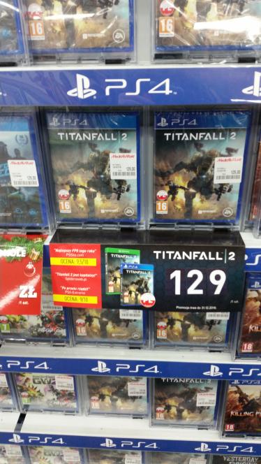Titanfall 2 na PS4 i XBOX ONE za 129, PC za 109 Mediamarkt