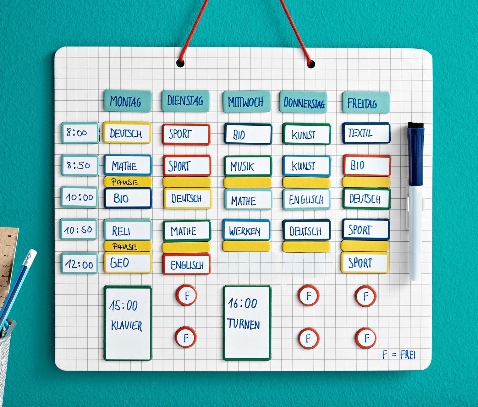 Magnetyczna tablica do planowania (122el.) za 27,99zł + darmowa dostawa @ Tchibo