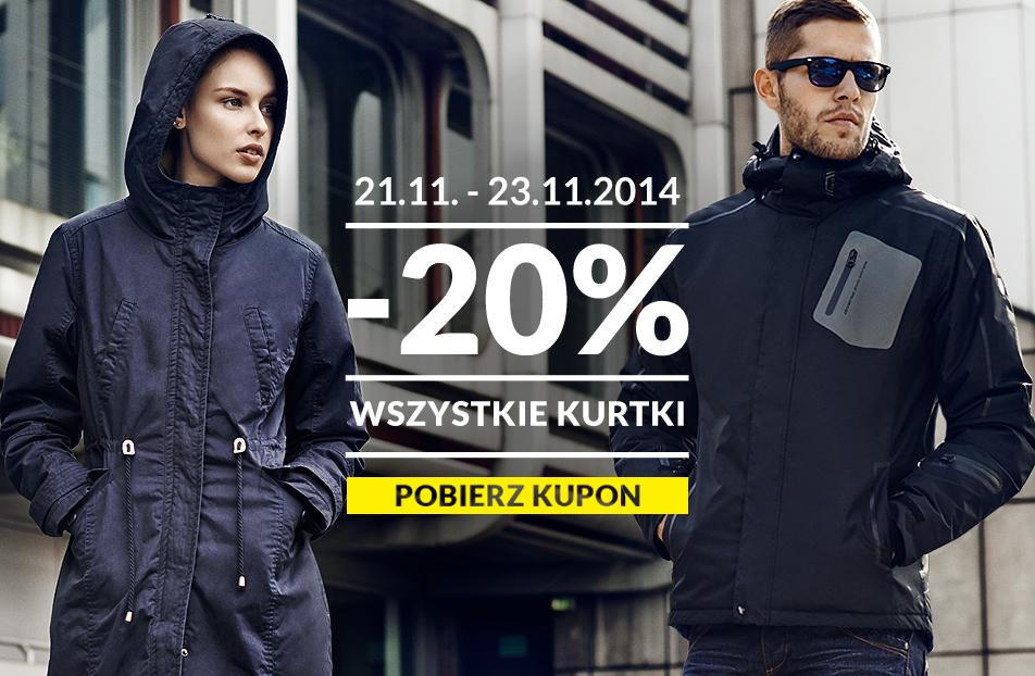 -20% na wszystkie kurtki @ Diverse