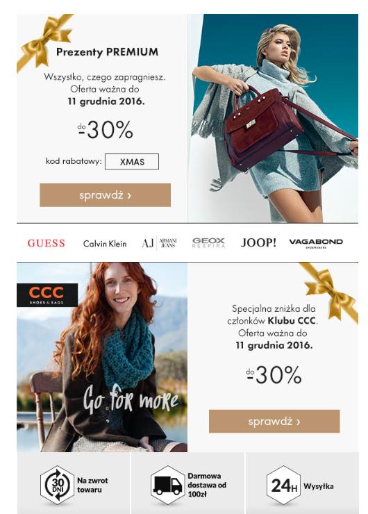 Kod rabatowy - 30% buty marki Premium oraz 30% dla posiadaczy karty CCC na marki tegoż sklepu @ eobuwie.pl