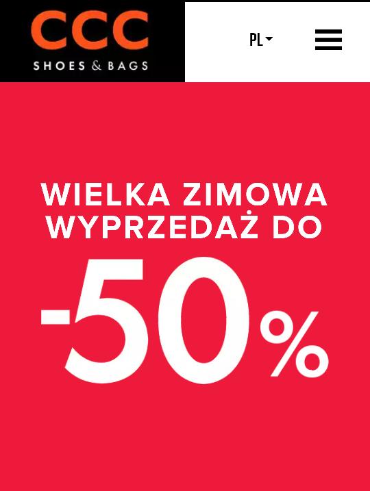 CCC wyprzedaż butów zimowych! W sklepach stacjonarnych i online.