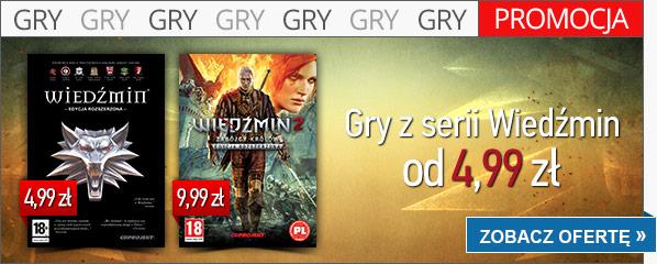 Wiedźmin Edycja Rozszerzona za 4,99zł oraz Wiedźmin 2: Zabójcy Królów za 9,99zł @ cdp.pl