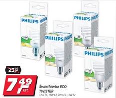 Żarówki energooszczędne (świetlówki spiralne) PHILIPS za 7,49zł @ Real