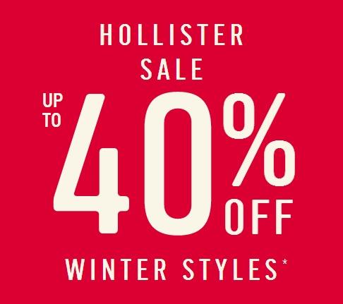Zimowa kolekcja do -40% + 10% rabatu z newslettera + darmowa wysyłka od €50 @ Hollister