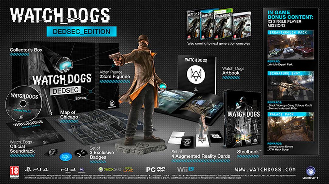 Watch Dogs - Dedsec Edition (Edycja kolekcjonerska min. z figurką) [Xbox One/Playstation 3] @ Ubisoft