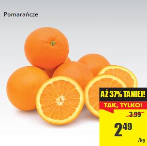 Pomarańcze na wagę 2,49zł/kg  @ Biedronka