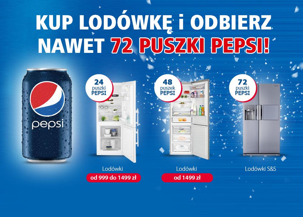 Kup lodówkę i odbierz nawet 72 puszki Pepsi @ Media Expert