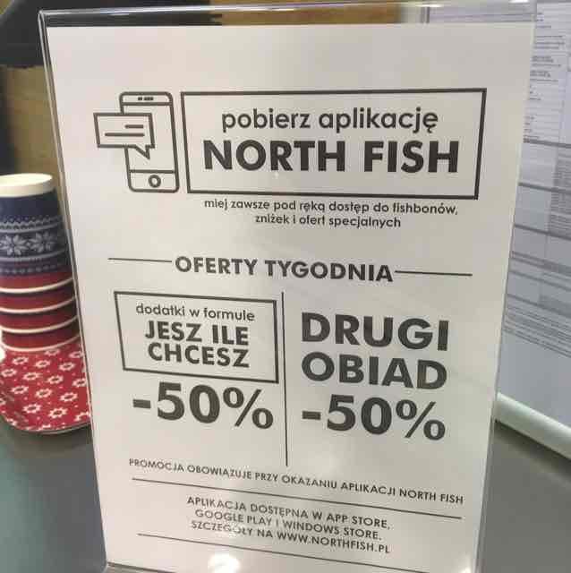 2gi obiad 50% z aplikacją North Fish.