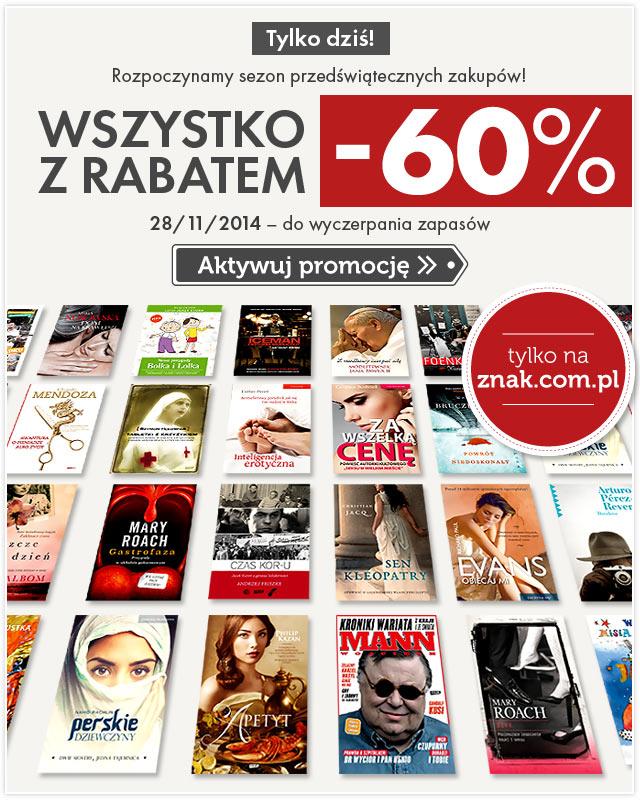 Wszystko z rabatem -60% tylko dziś @ Znak.com.pl
