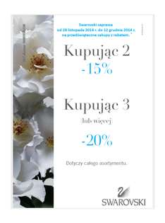 20% rabatu przy zakupie 3 produktów @ Swarovski