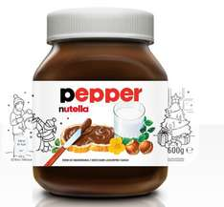 Własna etykieta gratis do promocyjnych słoików Nutella