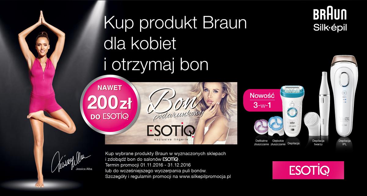 Bon do Esotiq (do 200zł) przy zakupie produktów Braun