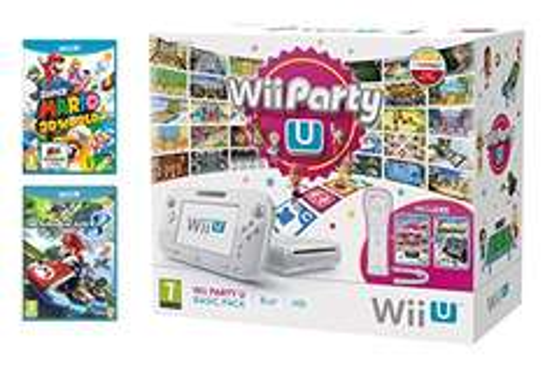 Nintendo Wii U Basic+Super Mario 3D World+Mario Kart 8+NintendoLand+Wii Party U + Wii Remote za 1101zł @ Amazon