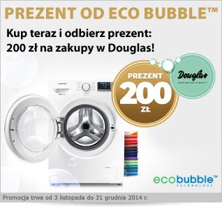 Kup pralkę z technologią Eco Bubble i odbierz nagrodę w wysokości 200zł na zakupy w Douglas @ Electro