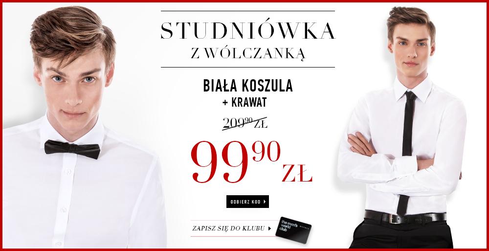 Studniówkowa promocja z indywidualnym kodem: koszula + krawat za 99,90zł @ Wólczanka