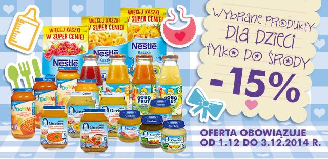 Wybrane produkty dla dzieci -15% @ Biedronka
