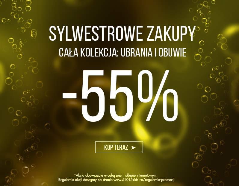Sylwestrowe zakupy w 5 10 15  rabaty od -55%