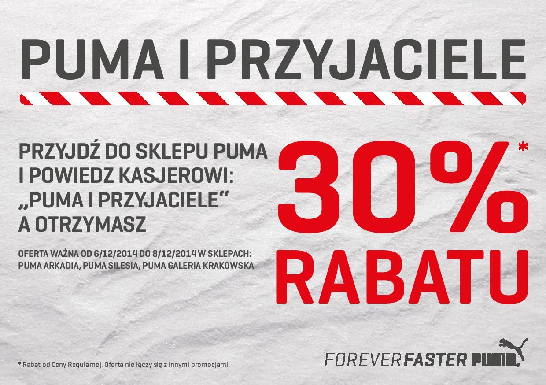 30% rabatu na całą kolekcję @ Puma