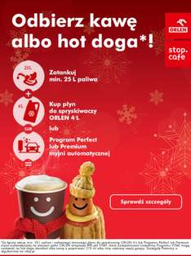 Orlen - odbierz kawę albo hot-doga