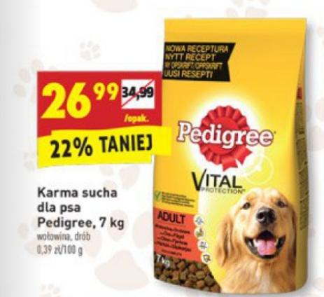 Karma sucha dla psa Pedigree 7kg (wołowina, drób) @ Biedronka