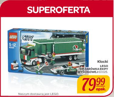 LEGO Ciężarówka Ekipy Wyścigowej za 79,99zł @ Carrefour