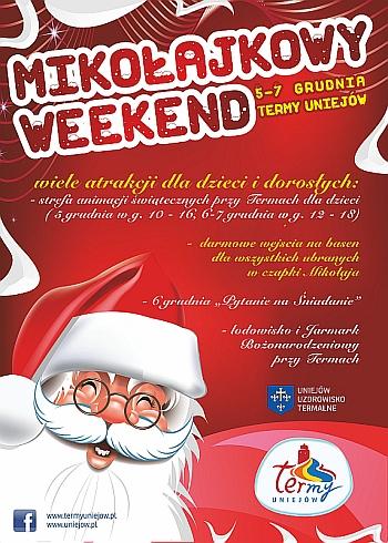 Mikołajkowy weekend 5-7 grudnia (DARMOWE wejściówki) @ Termy Uniejów
