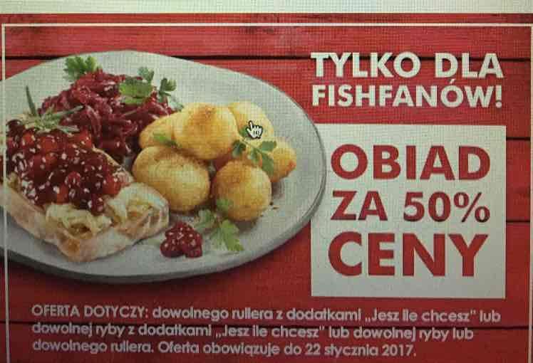 North Fish - obiad za pół ceny dla Fishfanów!