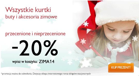 Kurtki, buty i akcesoria zimowe -20% @ 5.10.15