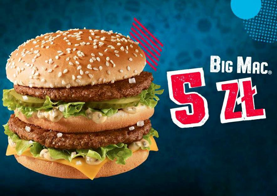 Big Mac za 5zł do 8 lutego (Szczecin GK) .