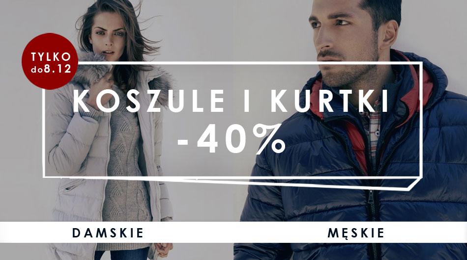Koszule i kurtki z rabatem 40% @ Big Star