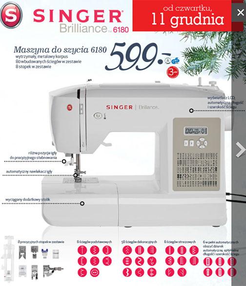 Maszyna do szycia Singer 6180 (500zł TANIEJ) @ Lidl