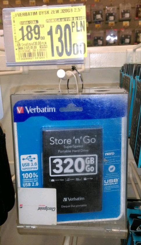Dysk Verbatim 320 GB