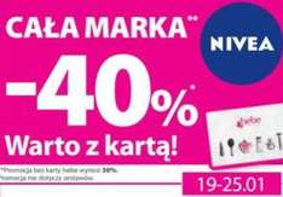 -40 % na produkty Nivea z kartą @Hebe