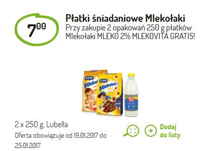 Mleko gratis przy zakupie dwóch opakowań Mlekołaków @ Delikatesy Centrum