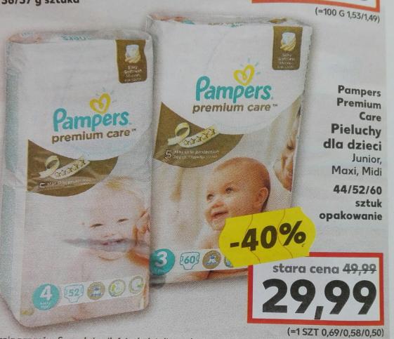 PAMPERSY PREMIUM Junior/Maxi/Midi -40% TYLKO 29.99 KAUFLAND