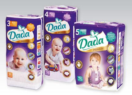 Pieluchy Dada Premium przy zakupie 2 sztuk cena za opakowanie 18,99 zł