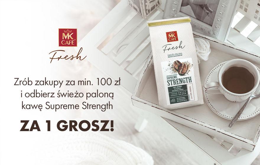 Kawa Supreme Strength 250g ziarno za 1 grosz przy zakupach za 100 zł - mkfresh