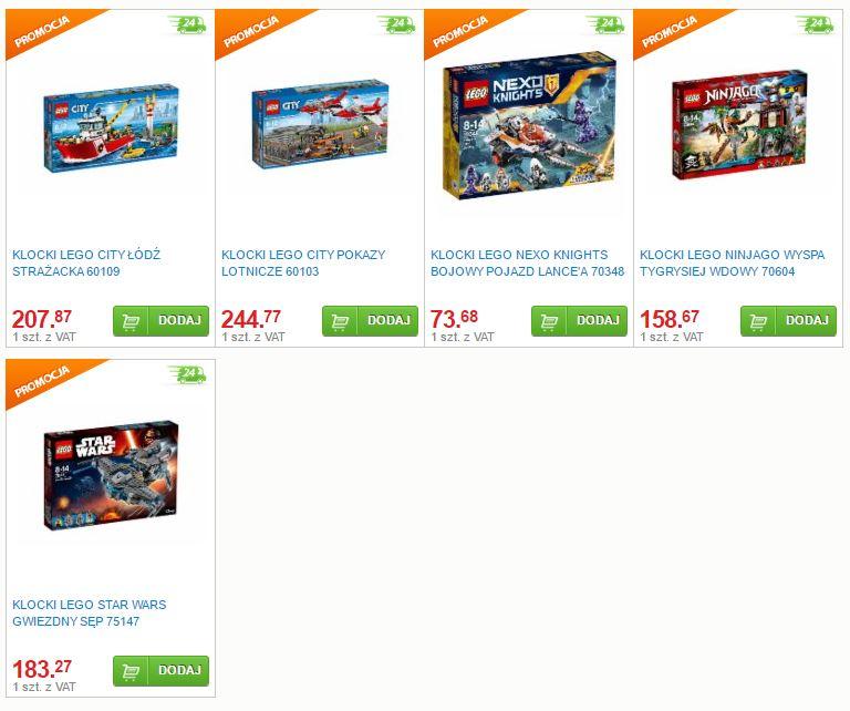 Wybrane zestawy klocków LEGO (Łódź Strażacka, Pokaz Lotniczy, Gwiezdny Sęp i inne) najtaniej w sieci @ Selgros24
