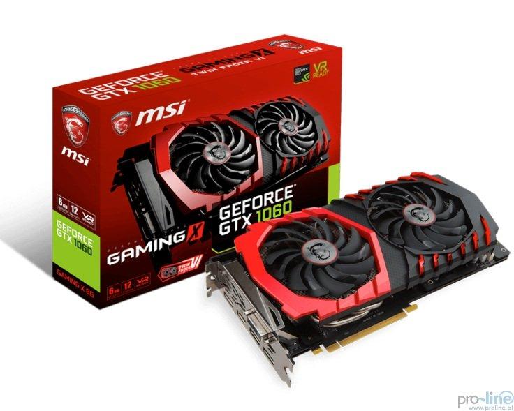 MSI GeForce GTX 1060 Gaming X 6GB za 1'416 + dostawa/odbiór osobisty