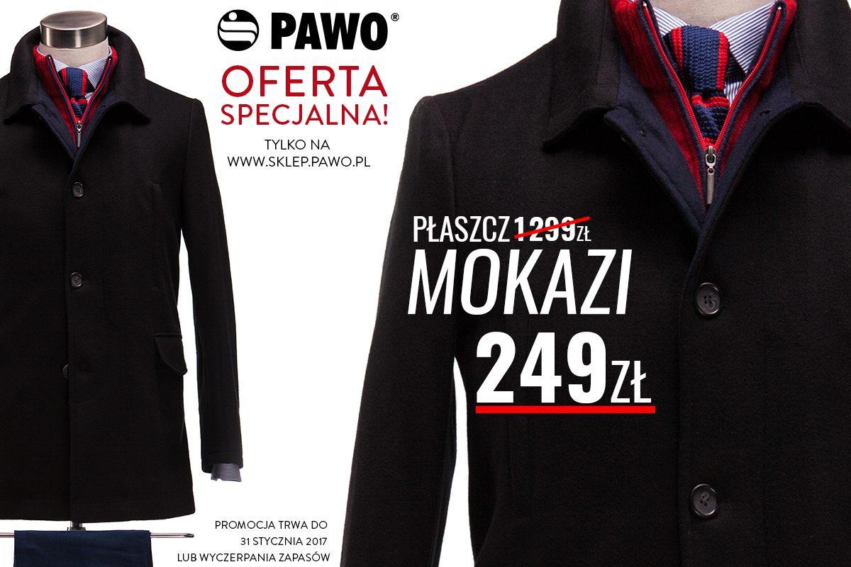 PAWO: klasyczny płaszcz męski (-1050 zł) + DARMOWA DOSTAWA I ZWROT