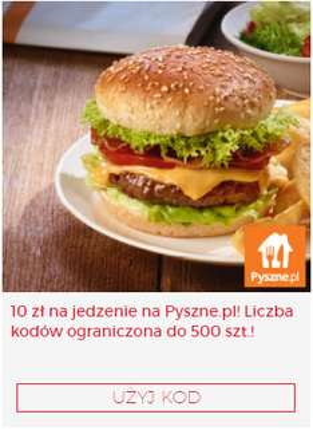 10 zł na Pyszne.pl 500 szt @ VIRGIN OKAZJE