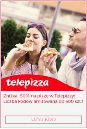 Zniżka -50% na pizzę w Telepizza ! @ VIRGIN OKAZJE