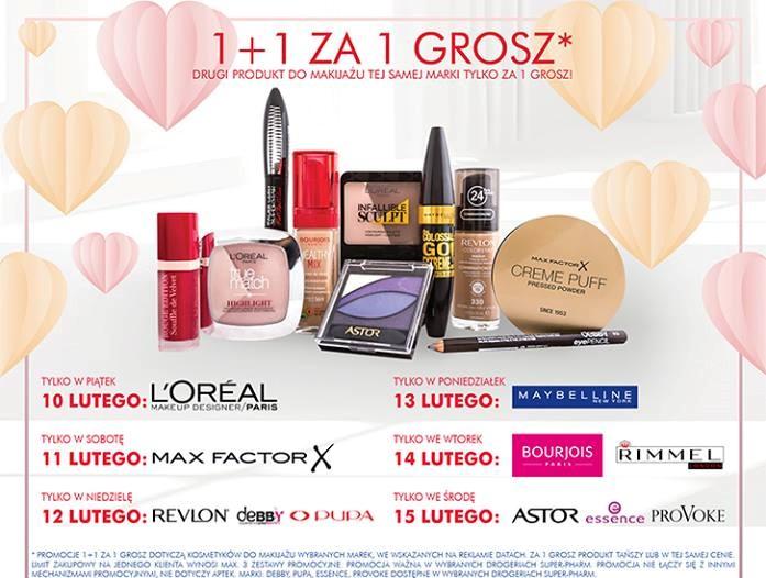 Make up - 1+1 za GROSZ @ Super-Pharm