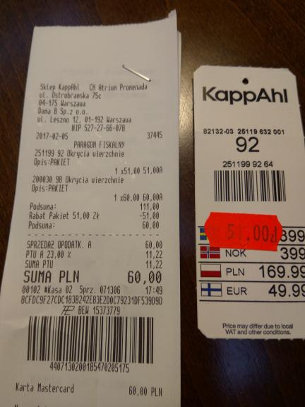 2 za 1 w KappAhl na przecenione towary