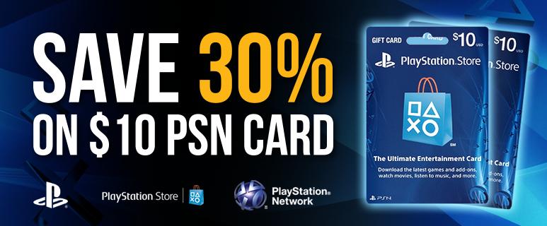 Doładowanie Playstation Network USA o wartości 10$ za 7$!
